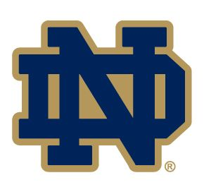 Notre Dame Fighting Irish ND Logo Clear Vinyl Decal Car Truck Sticker