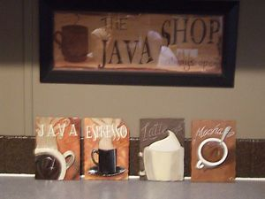 Decorative Coffee Themed Ceramic Kitchen Wall Decor Plaques