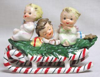 Just Plain Awesome Vintage Lefton Christmas Angel Kids on Tree CVD