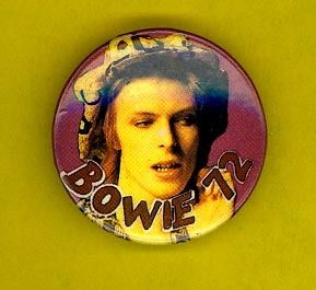 David Bowie 1984 Orig UK Badge Button Pinback 1972 F