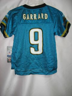 Jacksonville Jaguars David Garrard CHASE EQP Aqua NFL Kids Jersey Size
