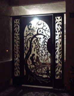 Metal Gate with Panels on Sale Ornamental Custom Art Designer Iron
