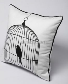 Cotton Bird Cage Decorative pillow Throw pillow Cover Cushion cases