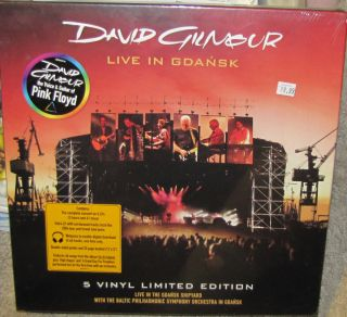 DAVID GILMOUR LIVE IN GDANSK SEALED 5X LP BOX SET BOOK PINK FLOYD