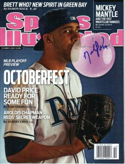 David Price Signed Sports Illustrated Tampa Bay Rays 2012 AL Cy Young