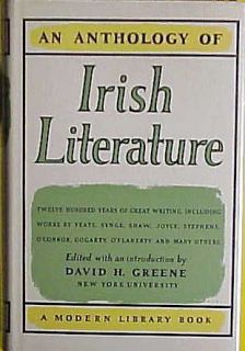 An Anthology of Irish Literature David H Greene
