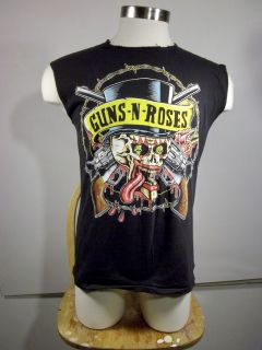 VTG 1990 Guns N Roses Tattoo Skull Brockum Tour Concert Music T Shirt