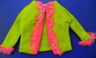 Mod Vintage Barbie Doll Fancy Dancy 1858 Jacket Mint
