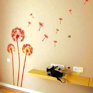 Dandelion Flying in The Wind Wall Decor Stickers Decals Art Mutural