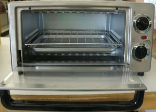 EMERSON PROFESSIONAL SERIES STAINLESS STEEL TOASTER OVEN MODEL TOR49