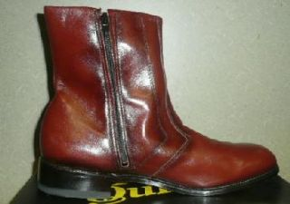 VTG 70s 80s MORGAN QUINN SAXON ANKLE ZIP BOOTS LEATHER DRESS SHOES NOS