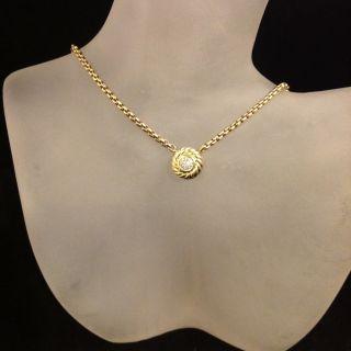 David Yurman 18k Gold Diamond Cookie Necklace