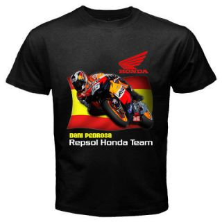 Dani Pedrosa Repsol Honda Moto GP Mens Black T Shirt Size s 2XL