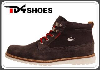 Lacoste Delevan 2 SRM Dark Grey Brown Khaki Mens Outdoors Shoes