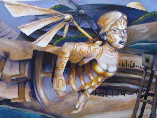 Original Acrylic Painting by David Mitchell The Flight