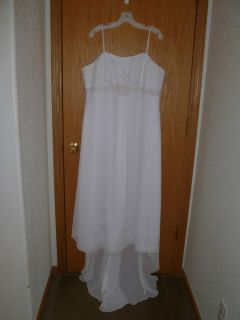 Davids Bridal Chiffon Wedding Dress Style #9T8077 Size 18W