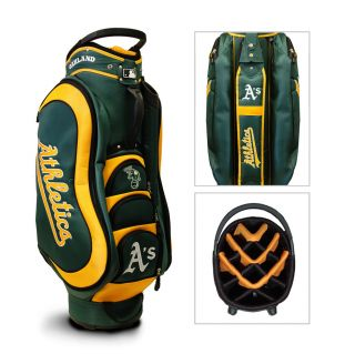 Authentic MLB Team Golf Oakland Athletics Medalist Golf Cart Bag   NEW