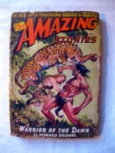 Science Fiction Amazing Stories 1942 Howard Browne Edmond Hamilton