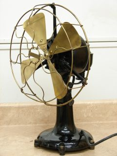 Antique Dayton Ohio Brass Blade CAG Electric Desk Fan Oscillating Old