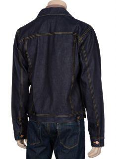 345 SPURR Mens Blue Denim Jacket Small S Euro 48 Vintage Indigo
