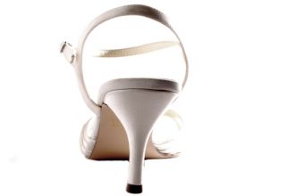 Coloriffics Dyable White Tori Satin Evening Heels Womens Shoes Size 11