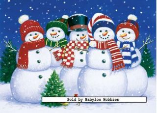 of Masterpieces 500 pieces jigsaw puzzle Five Snowman Friends (31146
