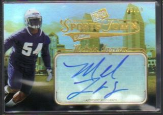 2012 Press Pass Sports Town RC AUTO Melvin Ingram Chargers Gold /50 On