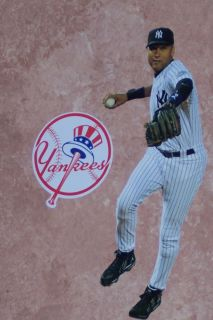 Derek Jeter Mini FATHEAD New York Yankees Logo MLB Vinyl Wall Graphics
