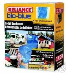 Box 24pk Reliance Bio Blue Chemical Toilet Deodorant