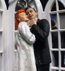 Lucy Ricky Desi Love Ornament Wedding Cake Topper Top