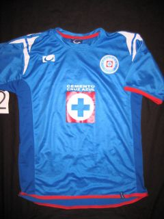 Mexico Soccer Jersey Small Deportivo Cruz Azul Blue