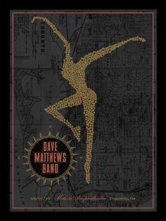 Dave Matthews Band Poster 10 Molson Amphitheater Toronto Ontario #/475
