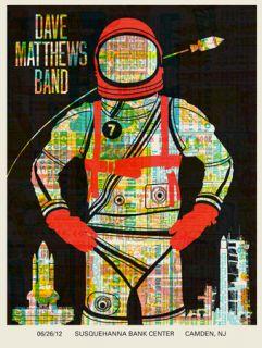 Dave Matthews Band Poster Camden NJ 6 26 2012 Mint 43 675