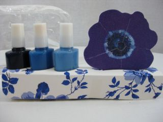New Cornflower Blue Nail Polish Set of 3 and Nail File