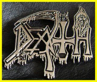 DEATH METAL PIN BADGE CONTROL DENIED Schuldiner WARBRINGER NOCTURNUS
