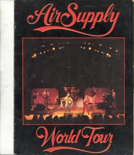 Air Supply 1982 Now and Forever Tour Concert Program Book