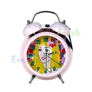 Disney PRINCESS BELLE Twin Bell Alarm Desktop Childen Clock w Light