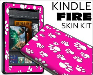 Kindle Fire Skin Vinyl Decal eBook Netbook Tablet 279 Paw Print