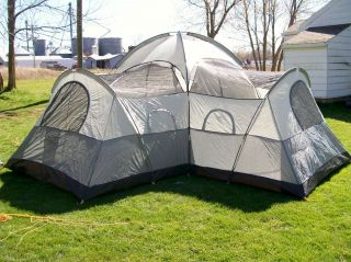 coleman camping tent 13ft x 13ft ridgeview 3 room