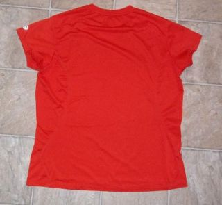 Rei Sz L Athletic Top Red Short Sleeves OXT Women Shirt Running