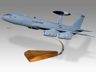 Boeing AWACS E 3 Afmc Wood Desktop Airplane Model