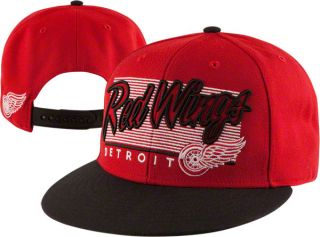 Detroit Red Wings 47 Brand Kelvin Adjustable Snapback Flat Brim Hat