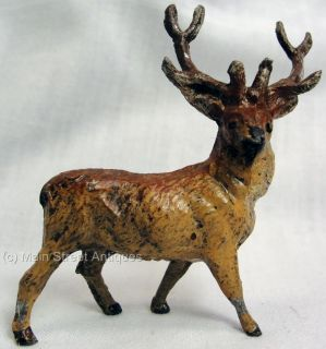 Vintage 1940S HO MODEL RAILROAD TOY LEAD ANIMAL 8 POINT BUCK DEER