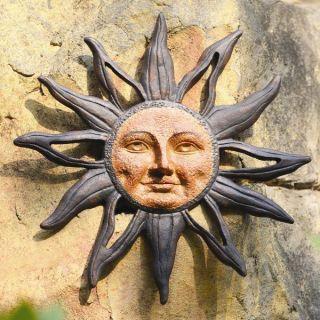 Sun Face Celestial Aluminum Indoor Outdoor Garden Wall Plaque