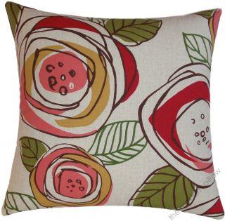 18 Sq Floral Rainforest Decorative Throw Pillow Cover