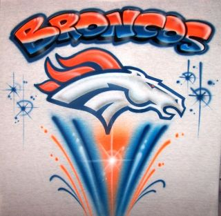 Airbrushed Dever Broncos Tim Tebow Football T Shirt Airbrush Any Team