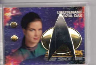 Lieutenant Jadzia Dax Star Trek Deep Space 9 Communicator Pin Rank Pip