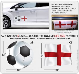 Large England Flag Life Size Football Sticker Decals