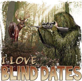 Hunting T Shirt I Love Blind Dates Deer Hunting Tee Large Sand