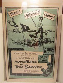 Mark Twains Adventures of Tom Sawyer One Sheet Movie Poster Vintage
